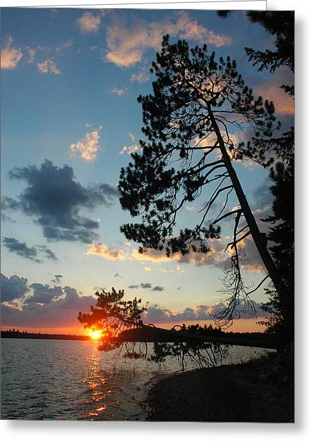 Down East Maine Greeting Cards - Pink Clouds Greeting Card by Robert Anschutz