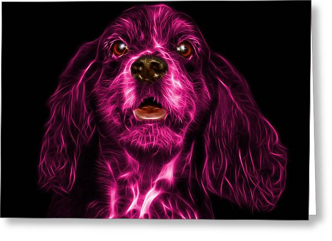 Pink Cocker Spaniel Pop Art - 8249 - Bb Greeting Card