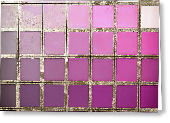 Pink Color Chart Greeting Card