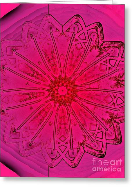 Pink Condition Greeting Card by Marie Ward-Alonge