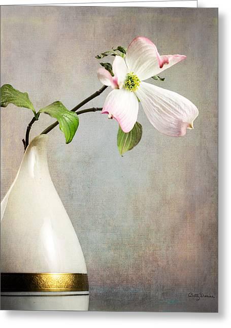 Pink Cornus Kousa Blossom In Creamer Greeting Card