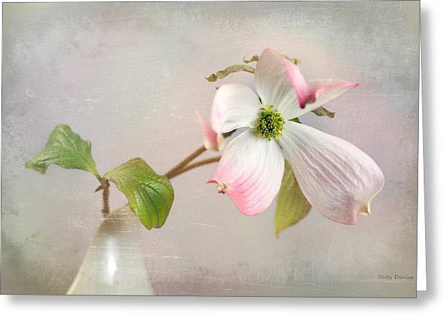 Pink Cornus Kousa Dogwood Blossom Greeting Card