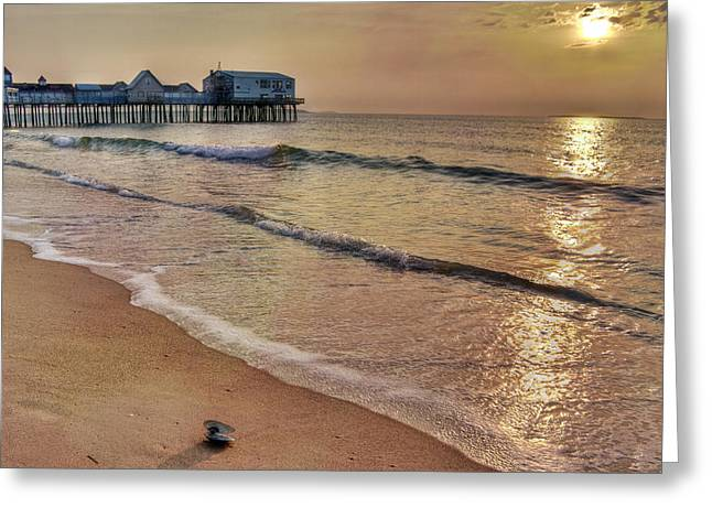 Vacationland Greeting Cards - Pink Dawn Greeting Card by Brenda Giasson
