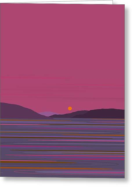 Pink Dawn Greeting Card by Val Arie
