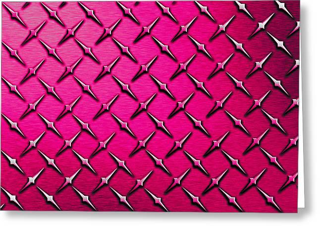 Pink Diamond Plate  Greeting Card