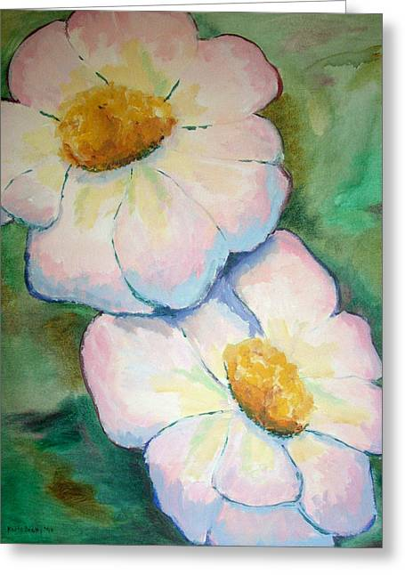 Pink Disc Flowers Greeting Card