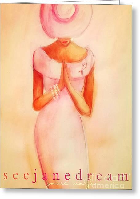 Pink Diva Alone Greeting Card