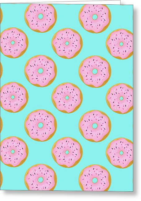 Pink Donuts Greeting Card