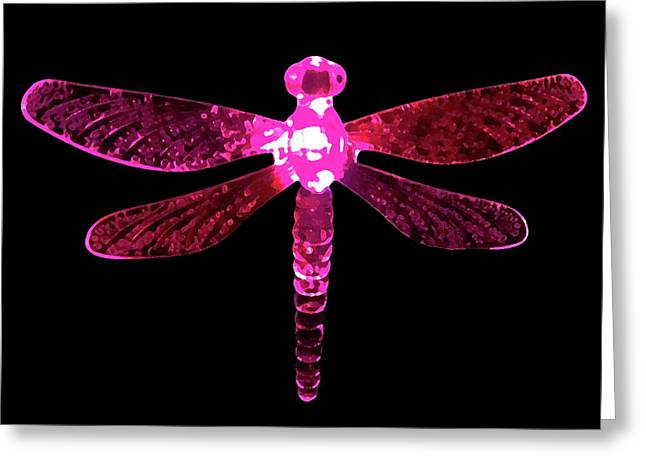 Pink Dragonfly Greeting Card