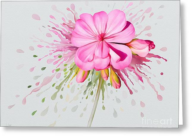 Pink Eruption Greeting Card