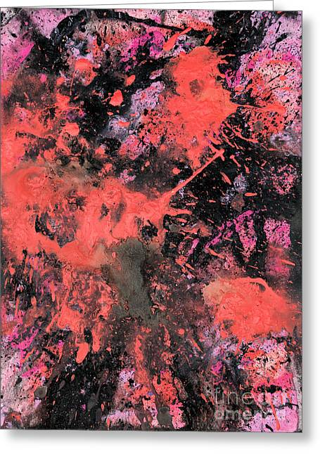 Pink Explosion Greeting Card