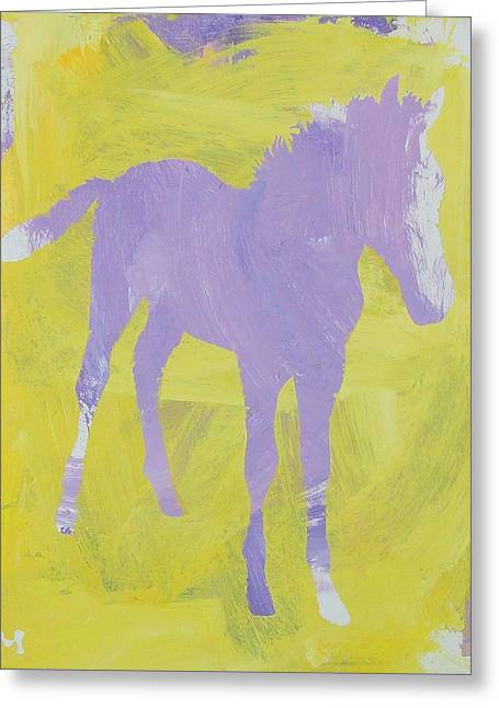 Pink Filly Greeting Card