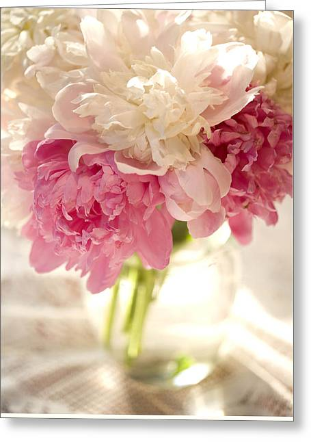 Pink Floal Greeting Card by George Robinson
