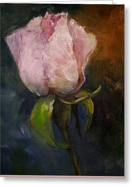 Pink Floral Bud Greeting Card