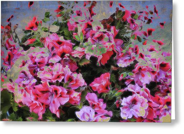Pink Flower Fantasy Greeting Card by Ann Powell