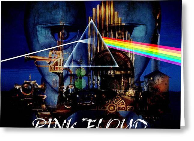 Pink Floyd Greeting Cards - Pink Floyd Montage Greeting Card by P Donovan