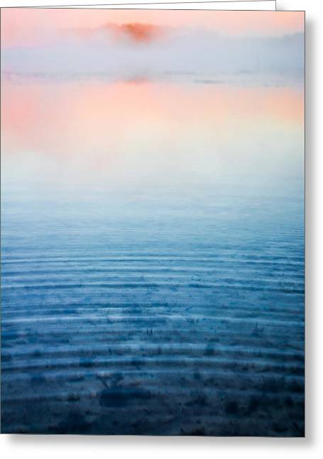 Pink Fog At Sunrise Greeting Card by Shelby  Young