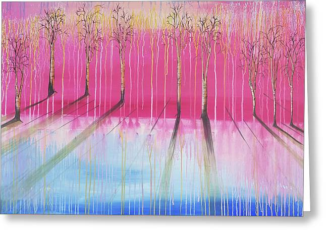 Pink Forest Greeting Card by Cat Crimson