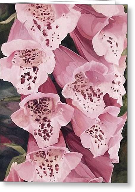 Pink Foxglove Greeting Card