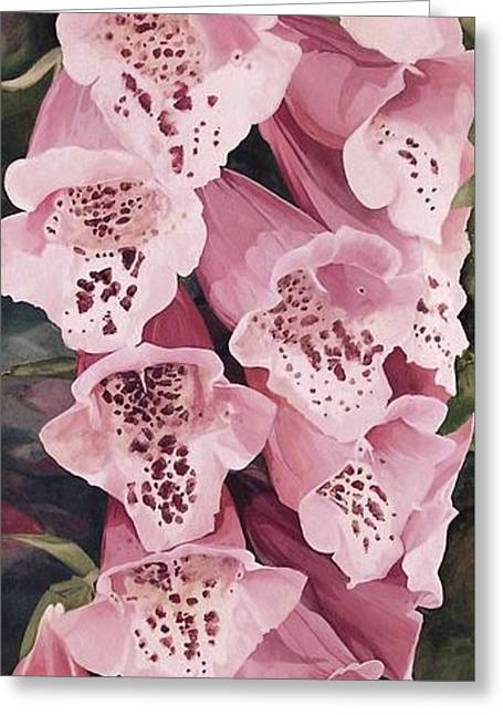 Pink Foxglove Greeting Card