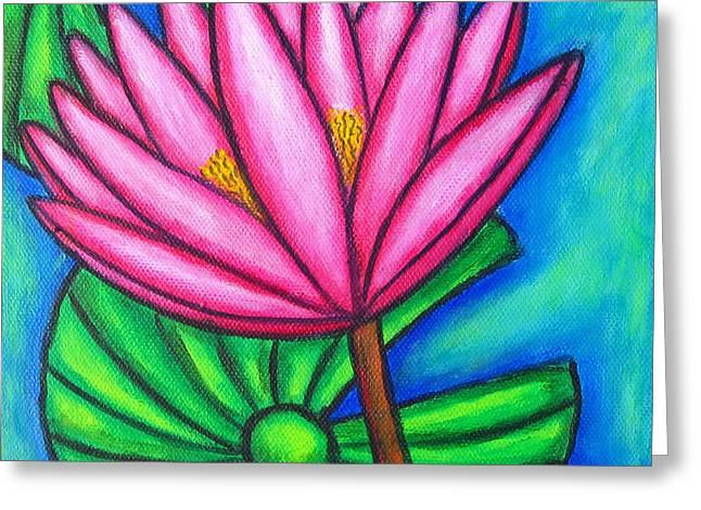 Pink Gem 1 Greeting Card by Lisa  Lorenz