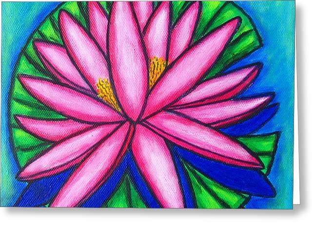 Pink Gem 2 Greeting Card by Lisa  Lorenz
