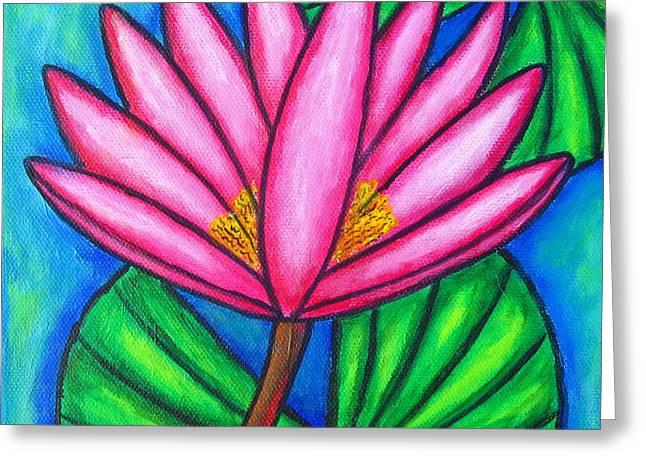 Pink Gem 3 Greeting Card by Lisa  Lorenz