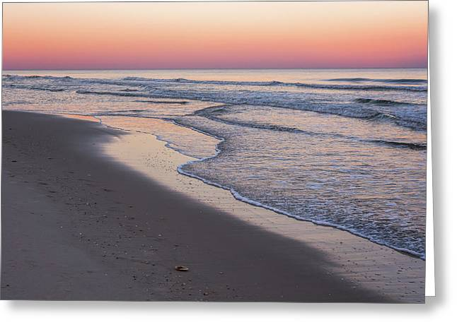 Pink Glow Seaside New Jersey 2017 Greeting Card by Terry DeLuco