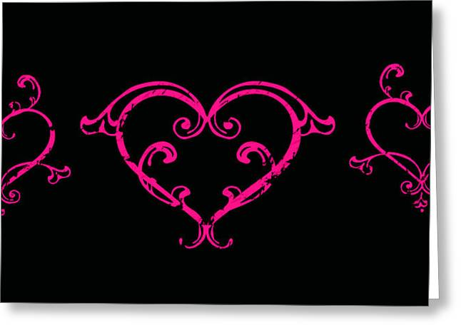 Pink Hearts  Greeting Card by Swank Photography