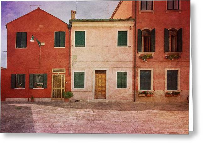 Greeting Card featuring the photograph Pink Houses by Anne Kotan