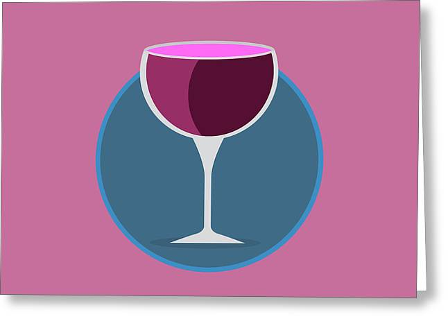 Pink Icon Of The Wine Greeting Card