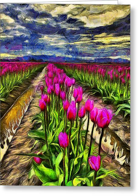 Pink Impression 2 Greeting Card by Mark Kiver