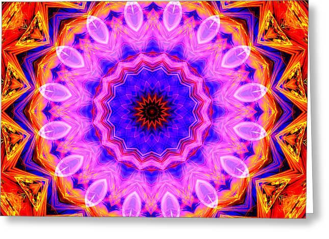 Pink Kaleidoscope Greeting Card