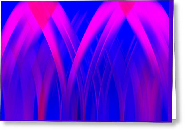 Greeting Card featuring the digital art Pink Lacing by Carolyn Marshall