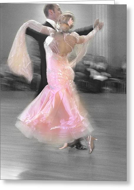 Pink Lady Dancing Greeting Card by Kevin Felts