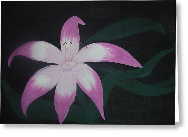 Pink Lily Greeting Card by Melanie Blankenship