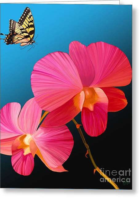 Pink Lux Butterfly Greeting Card