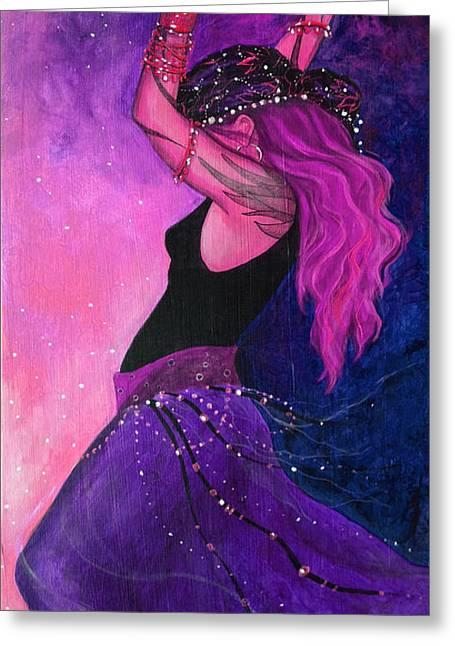 Pink Magick Greeting Card by Dori Hartley