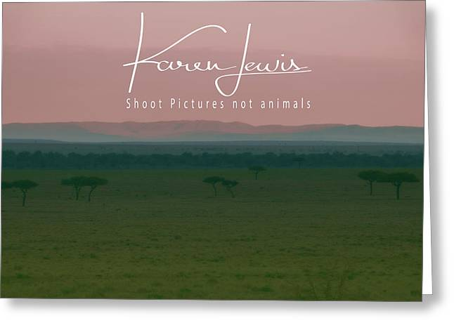 Greeting Card featuring the photograph Pink Mara Dawn by Karen Lewis