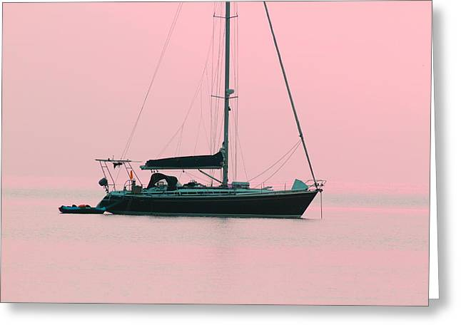 Greeting Card featuring the photograph Pink Mediterranean by Richard Patmore