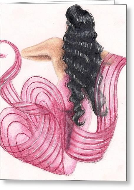 Pink Mermaid Greeting Card by Scarlett Royal