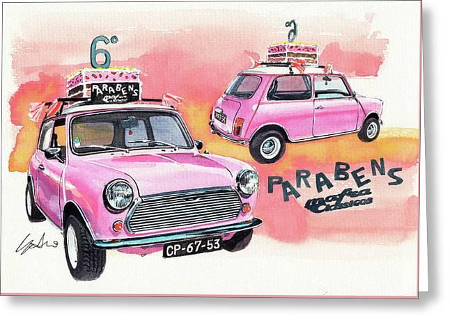 Pink Mini Greeting Card