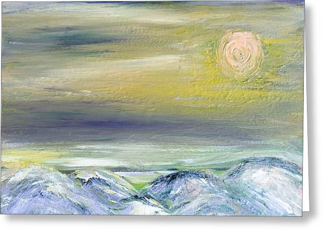 Pink Moon Greeting Card by Amy Drago