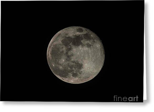 Greeting Card featuring the photograph Pink Moon by David Bearden