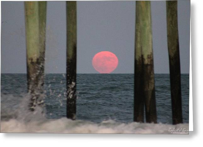 Pink Moon Rising Greeting Card