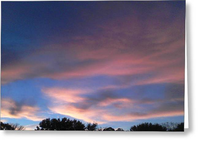 Pink Morning Clouds Greeting Card