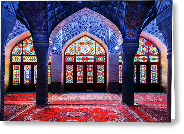 Pink Mosque, Iran Greeting Card