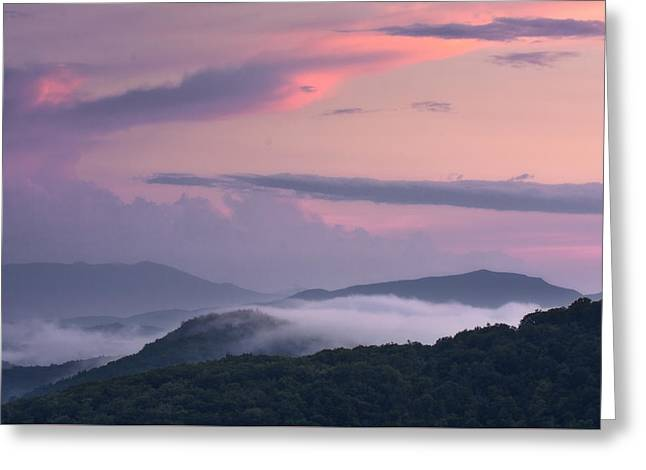 Greeting Card featuring the photograph Pink Mountain Sunset by Ken Barrett