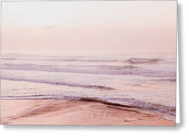 Greeting Card featuring the photograph Pink Pacific Beach by Bonnie Bruno