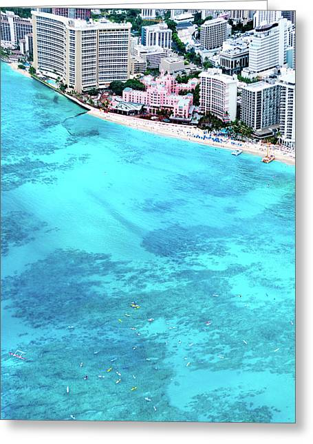 Pink Palace - Waikiki Greeting Card by Sean Davey